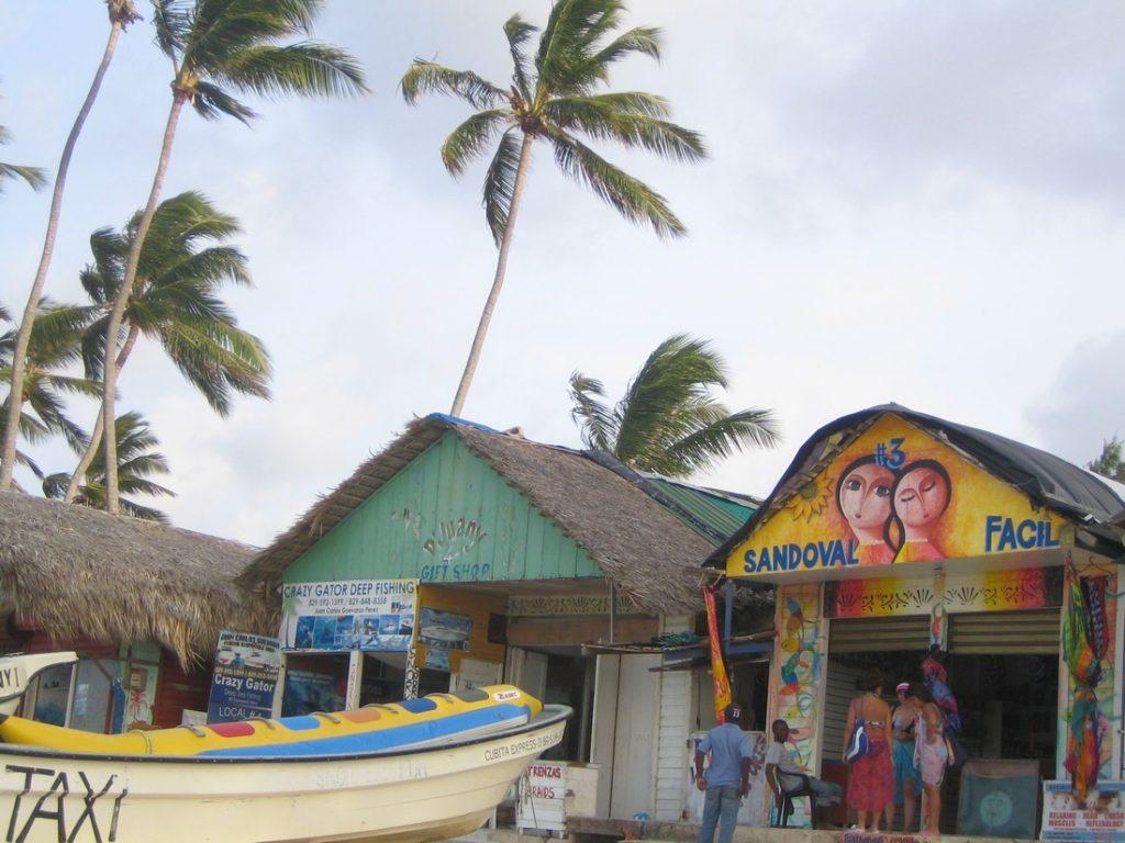 bavaro beach flea market punta cana dominican republic shopping center