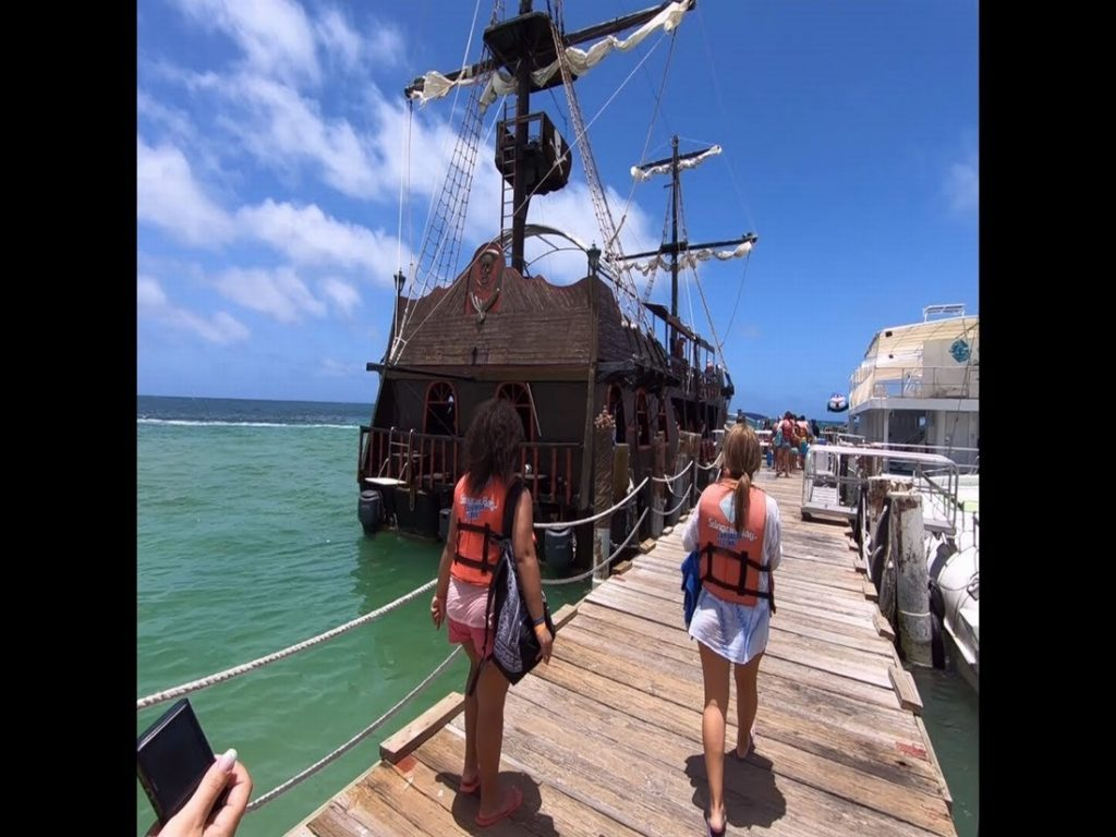 boat of caribbean pirates in punta cana dominican republic
